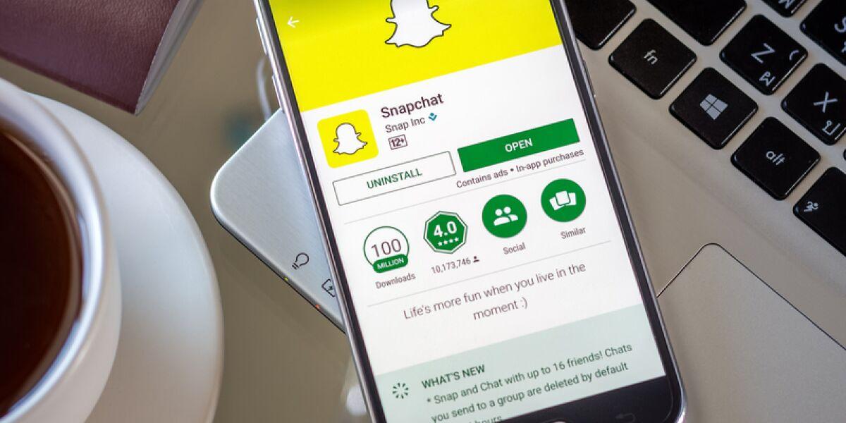 Snapchat auf dem Smartphone