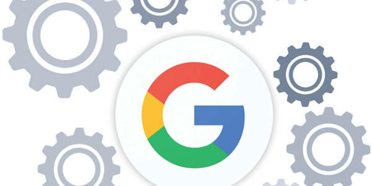 Google Logo Zahnräder