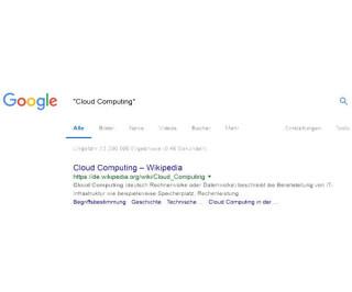 Suchergebnisse mit Anführungszeichen