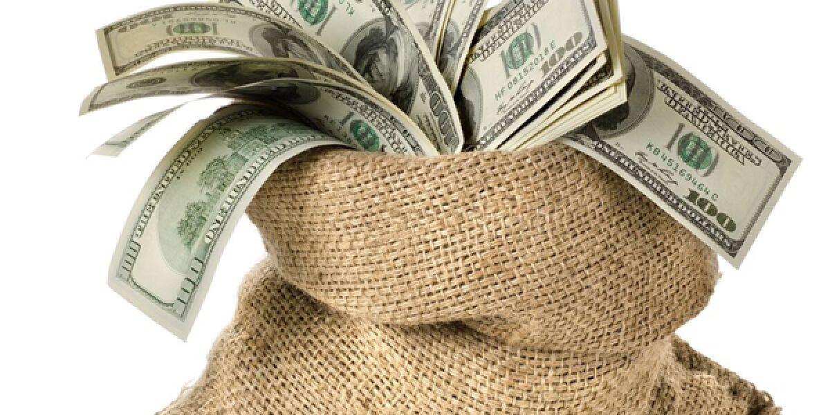 Dollarschweine in einem Sack