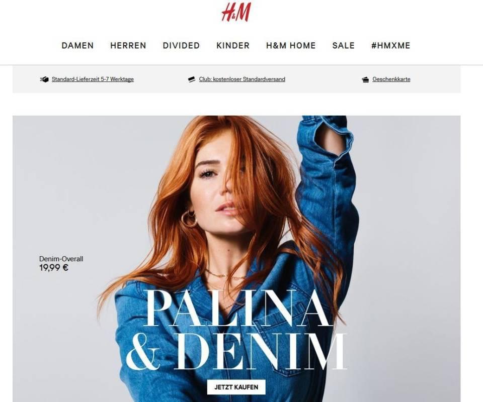 Das Ist Der Neue Online Shop Von Hm Deutschland Internetworldde