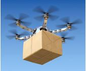 Drohne mit einem Paket