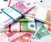 Haufen aus Geldscheinen