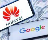 Google und Huawei auf dem Smartphone