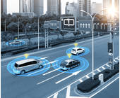 Autonome Autos auf der Straße