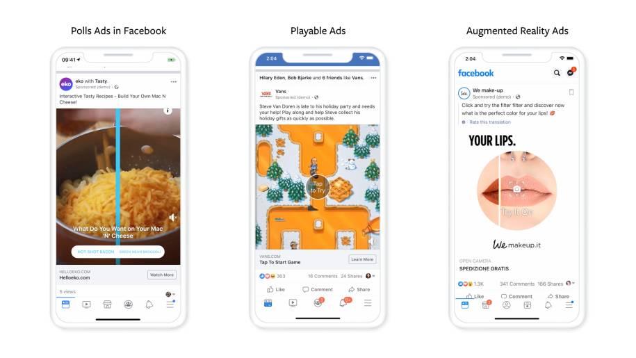Facebooks neue interaktive Anzeigenformate