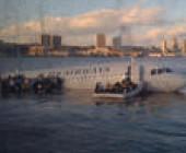 Notgelandeter Airbus im Hudson River