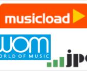 Musikdownloads bei WOM und jpc