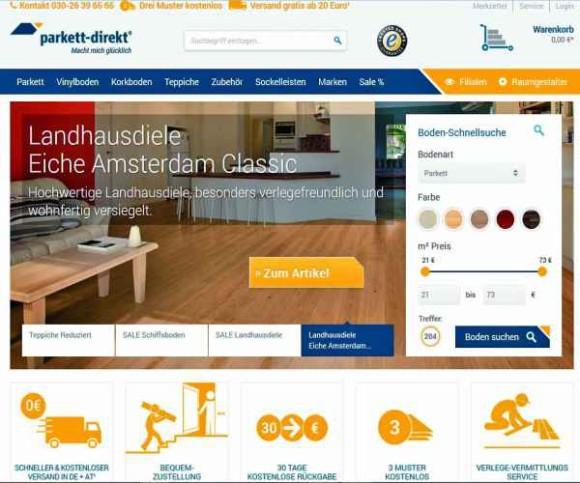 Parkett Direkt München parkett direkt mit neuem web auftritt internetworld de