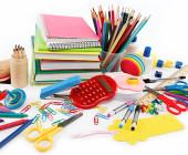 Büroartikel mit Stift und Block
