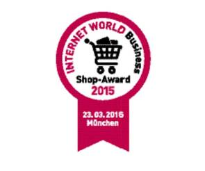 Vignette des INTERNET WORLD Business Shop-Award 2015