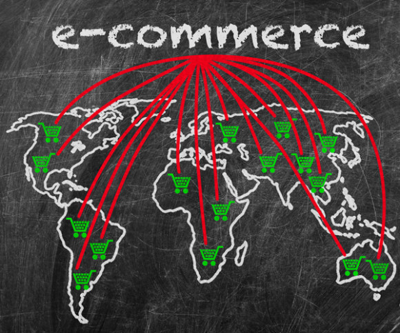 Weltkarte E-Commerce