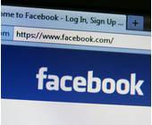 Interface der Website von Facebook