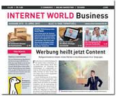 Cover der Internet World Business