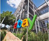 ebay Logo vor Haus