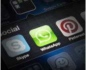 Apps von Whatsapp, Skype und Pinterest