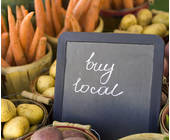 Schild mit buy local