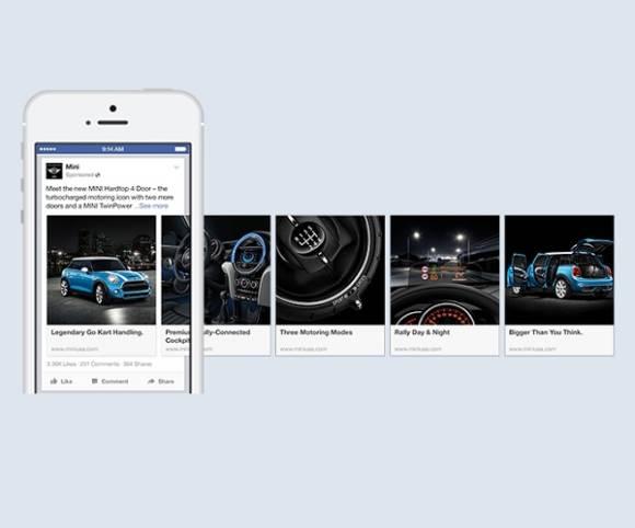 facebook macht die carousel ads mobil. Black Bedroom Furniture Sets. Home Design Ideas