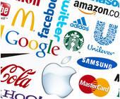 Verschiedene Firmenlogos dargestellt