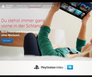 Website von Playstation Video