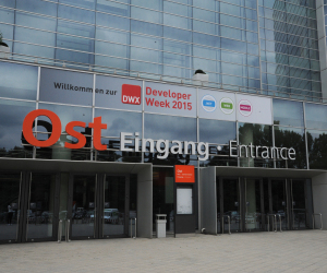 Eingang Ost der Developer Week