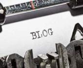 Das Wort Blog auf einer Schreibmaschine geschrieben