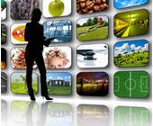 Werbung auf verschiedenen Bildschirmen