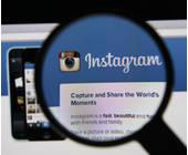 Instagram Webseite mit Lupe