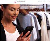 Mobilgerät informiert Verkäuferin