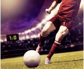 Fussballspieler im Stadion