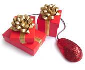 Geschenke und Computermaus