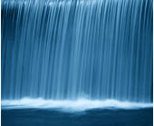 Wasserfall blau