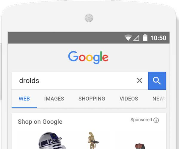 Verbesserte Suche bei Googles Shopping-App