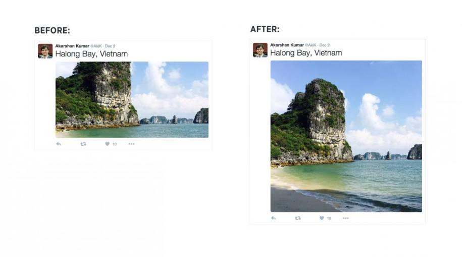 Vorher abgeschnittene Bildteile - nachher in voller Schönheit: Neue Fotoansicht bei Twitter
