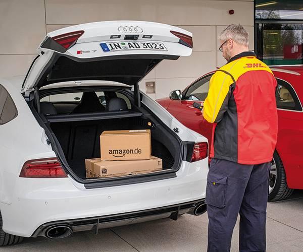 Mobile Lieferung direkt in den Kofferraum