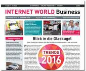 Cover der ersten Ausgabe der INTERNET WORLD Business 2016