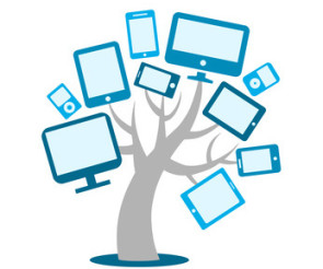 Baum mit Mobile Devices