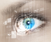 Auge im Visier