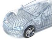 Digitalisiertes Auto