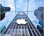 Apple Logo an Haus
