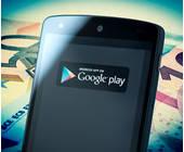 Smartphone mit Google Play App