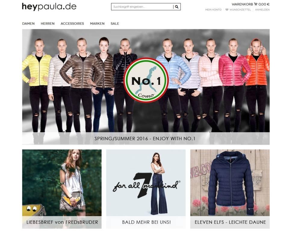 timeless design 329f4 cdd45 Start-up Hey Paula bringt Modemarken ins Web - internetworld.de