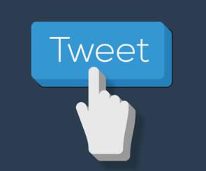 Tweet mit Finger
