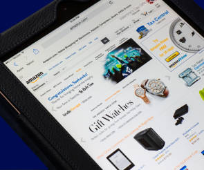 Amazon Website auf Tablet