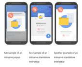 Smartphones mit Google Interstitial