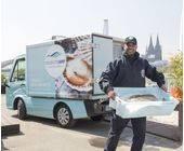 LKW Deutsche See mit Fahrer und Fisch