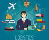 Logistik-schiff-flugzeug-container-LKW-Manager