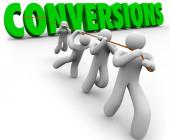 Conversion rate Optimierung Männchen ziehen Schrift Conversion