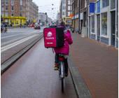 Lieferung auf dem Fahrrad von Foodora