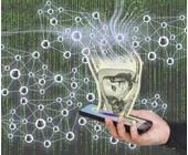 Geldschein im Smartphone